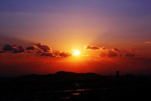 小さな夕日